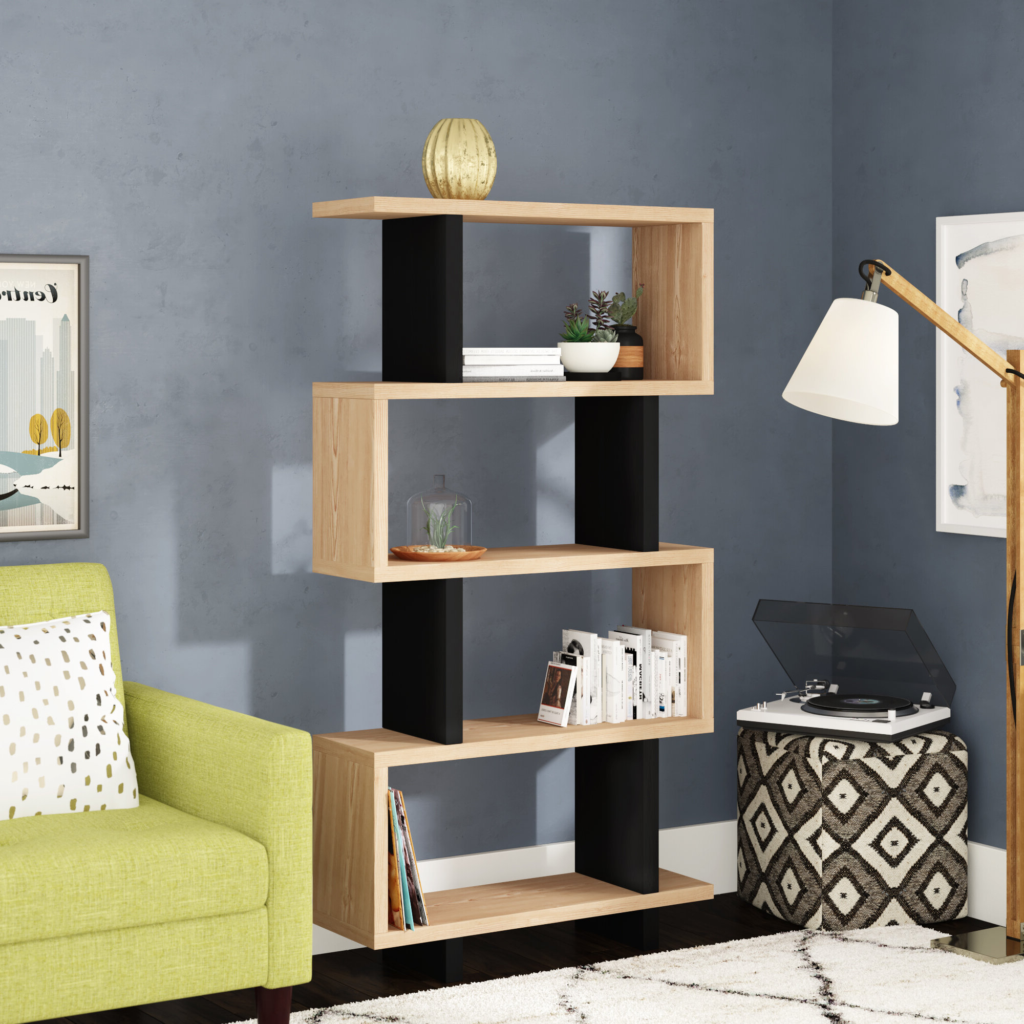 Paulus Standard Bookcase Throughout Famous Ignacio Standard Bookcases (View 15 of 20)