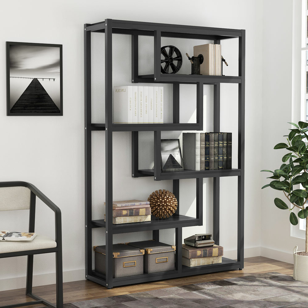Peltier Geometric Bookcase Regarding Favorite Swarey Geometric Bookcases (Gallery 18 of 20)