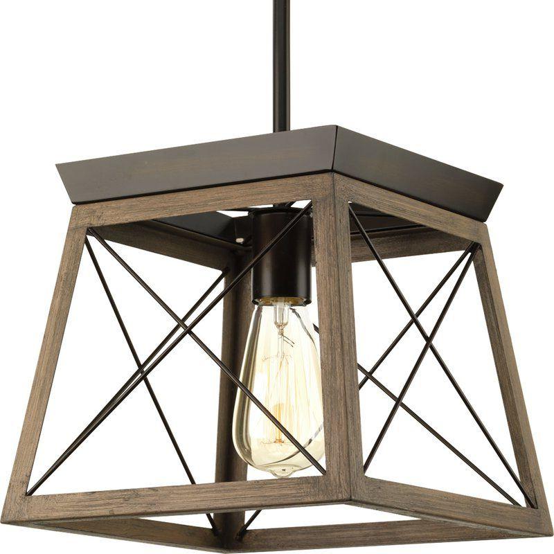 Pendant Regarding Delon 1 Light Lantern Geometric Pendants (Gallery 3 of 25)
