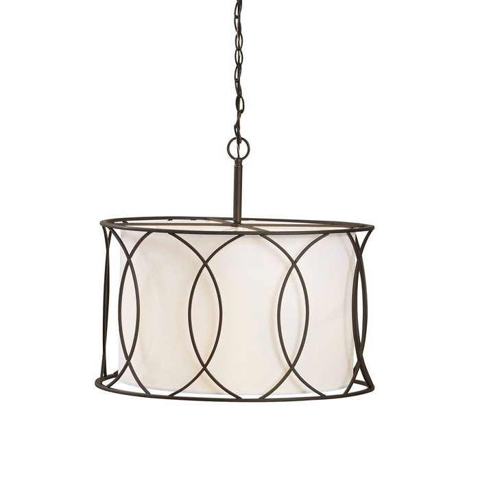 Pendant With Tadwick 3 Light Single Drum Chandeliers (View 14 of 25)