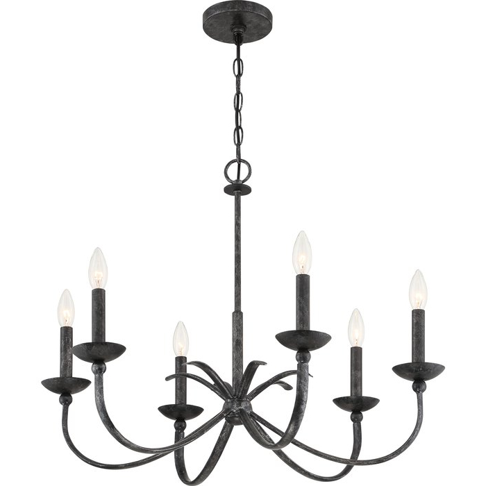 Perseus 6 Light Candle Style Chandeliers Inside Newest Goodin 6 Light Candle Style Chandelier (View 14 of 25)