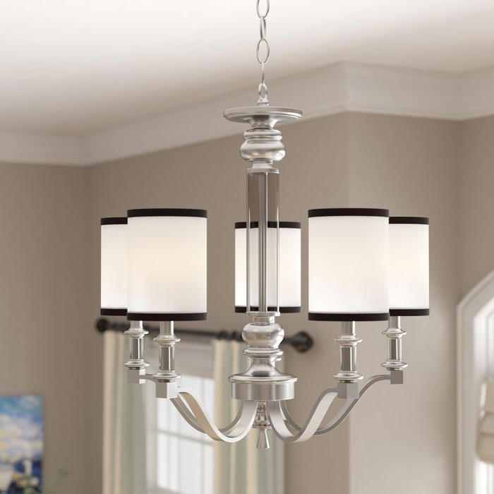 Pfeffer 5 Light Shaded Chandelier For Latest Suki 5 Light Shaded Chandeliers (View 7 of 25)