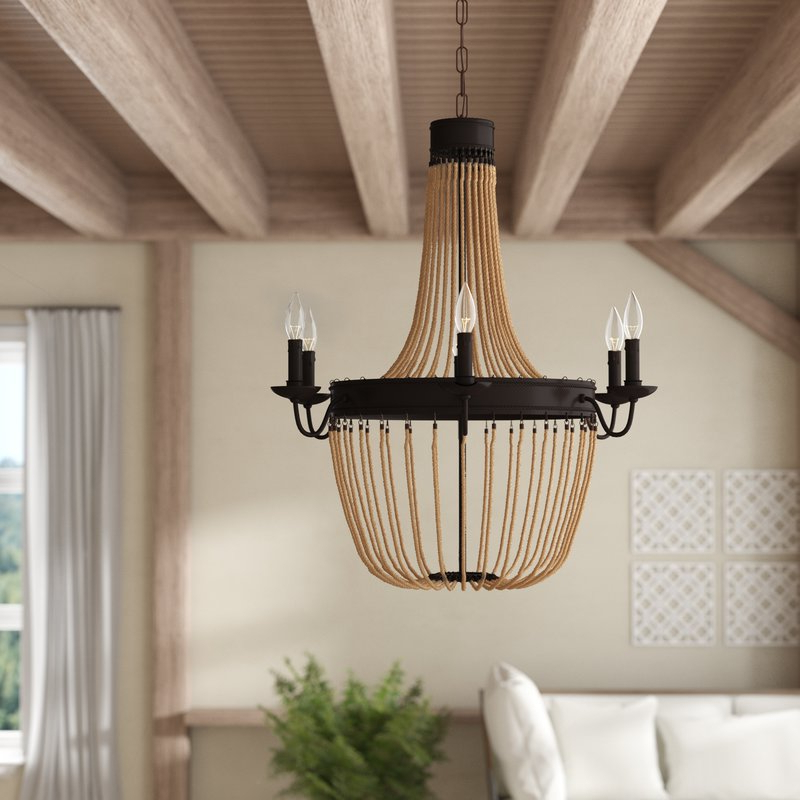 Phifer 6 Light Empire Chandeliers Pertaining To Well Known Maryjo 6 Light Empire Chandelier (Gallery 13 of 25)