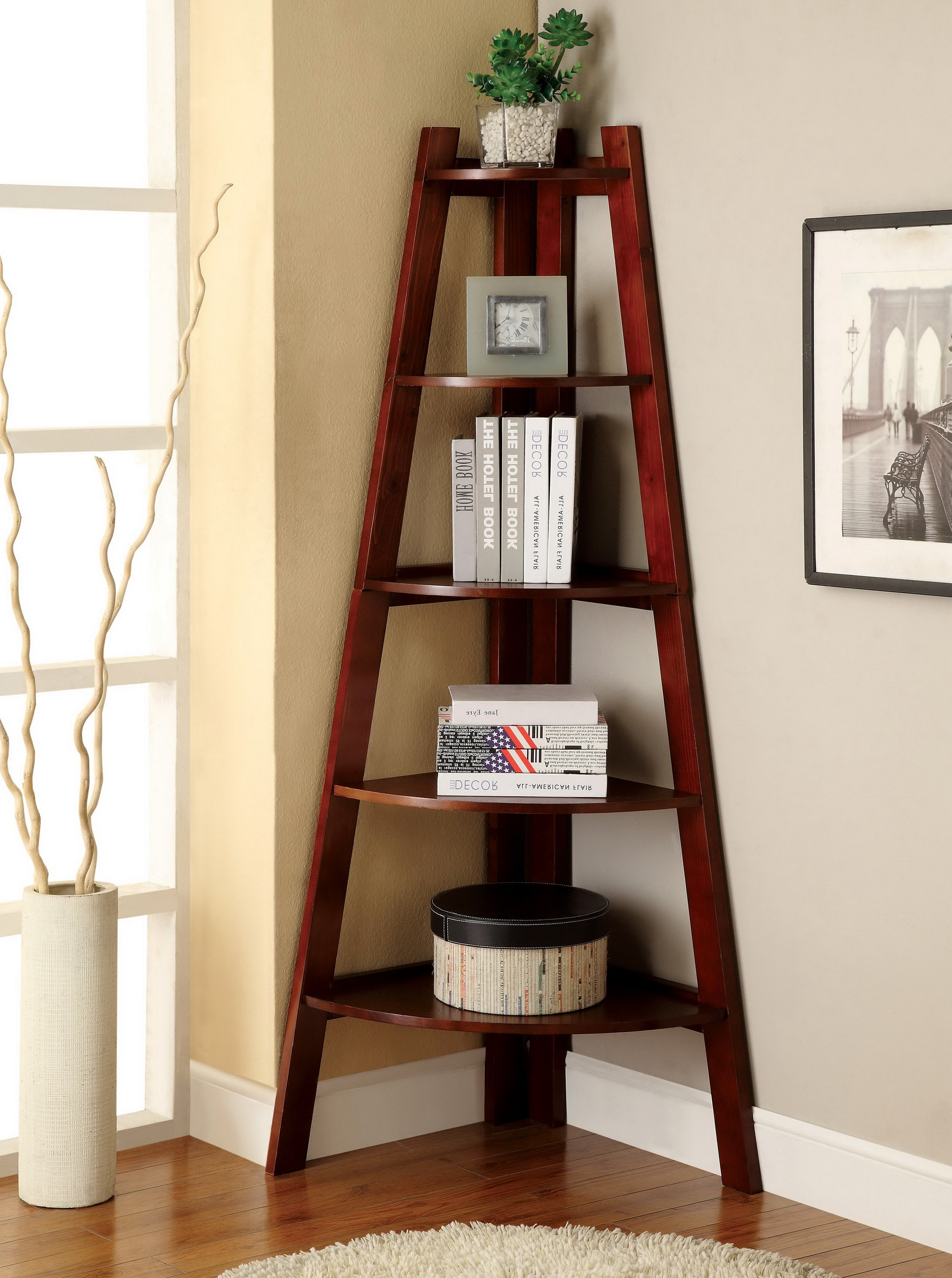 Pierview Corner Bookcase For Well Known Pierview Corner Bookcases (View 3 of 20)