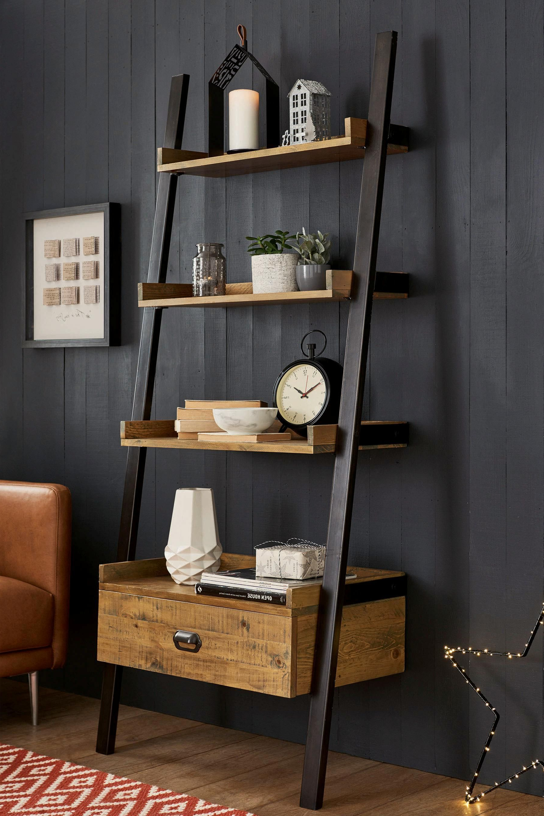 Pin On Ladder Shelves Pertaining To Fashionable Ranie Ladder Bookcases (View 12 of 20)
