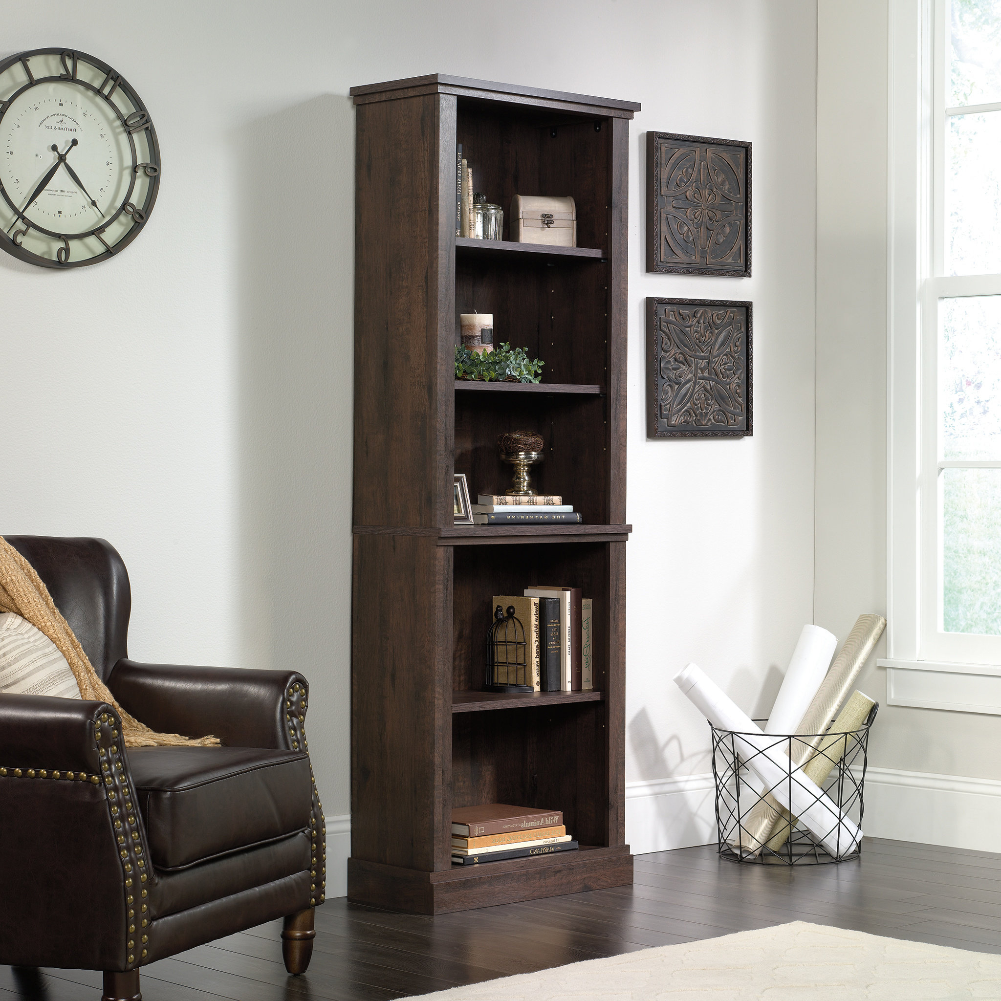 Pinellas Standard Bookcases Intended For Famous Arvilla Standard Bookcase (Gallery 14 of 20)