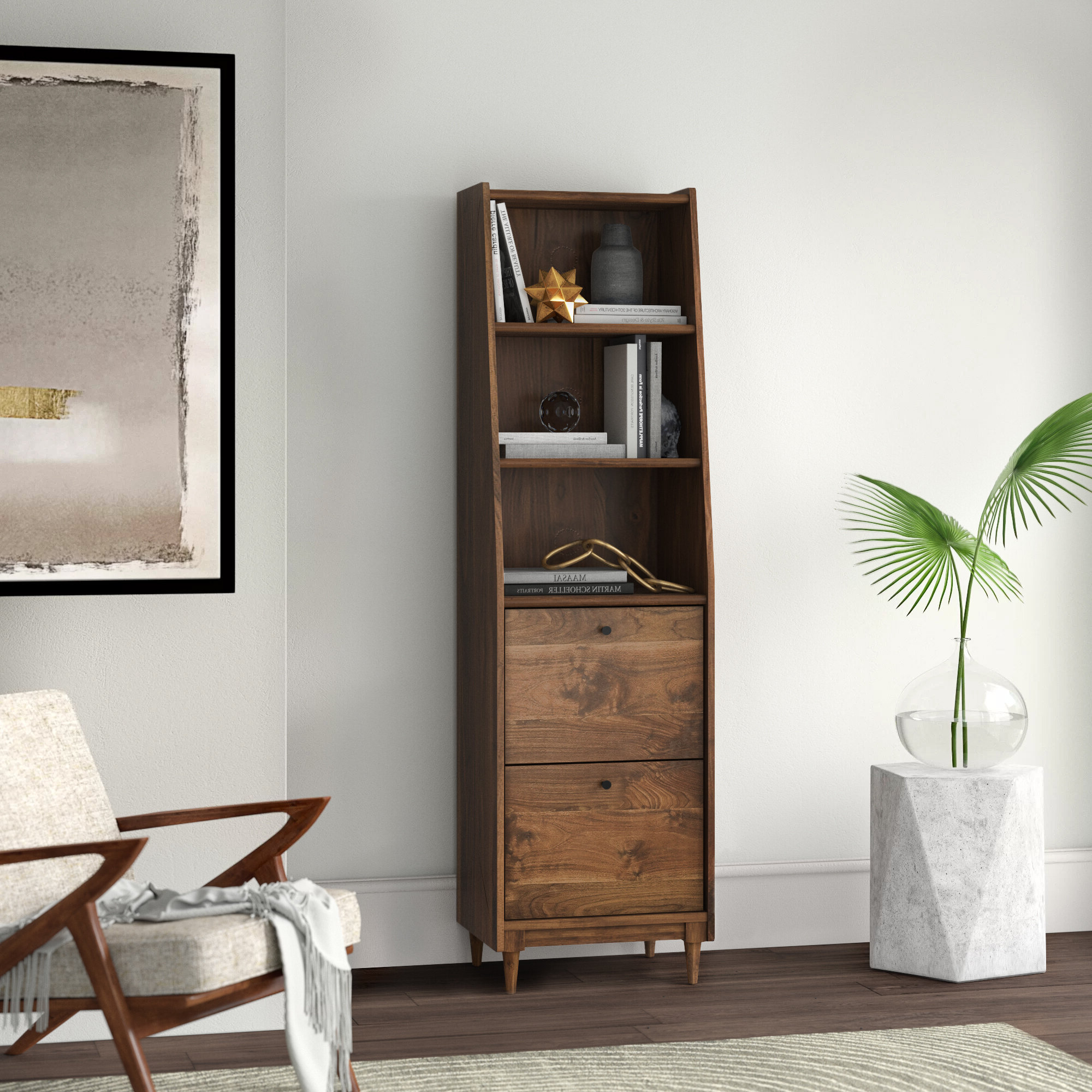 Pinellas Tall Standard Bookcases With Newest Posner Narrow Standard Bookcase (View 20 of 20)