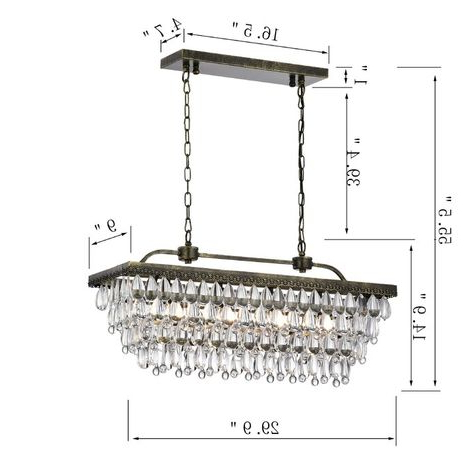 Pinterest With Regard To Current Whitten 4 Light Crystal Chandeliers (View 15 of 25)
