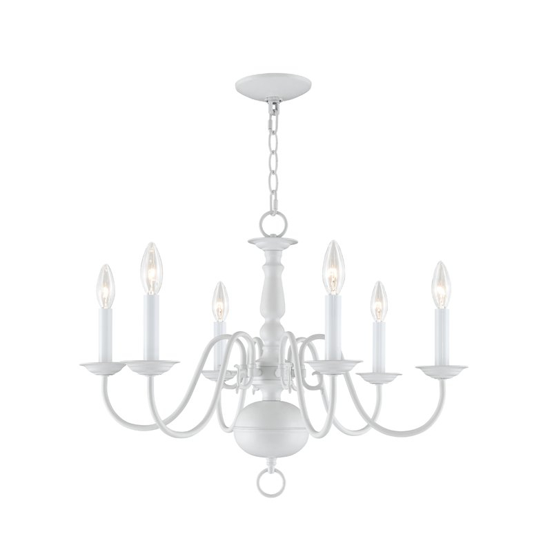 Pogue 6 Light Candle Style Chandelier Regarding 2018 Florentina 5 Light Candle Style Chandeliers (View 18 of 25)