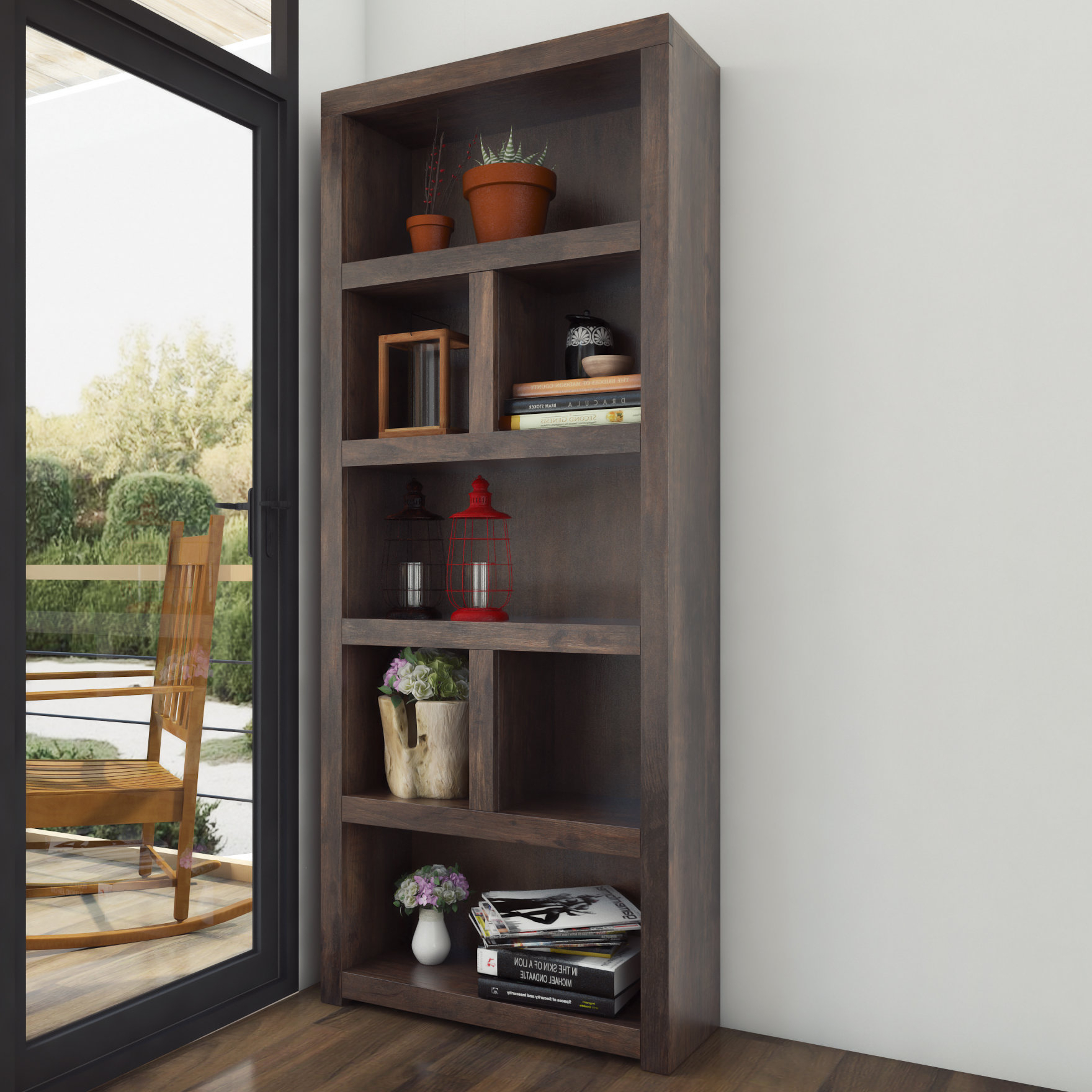 Pooler Standard Bookcase In Newest Kayli Standard Bookcases (Gallery 19 of 20)