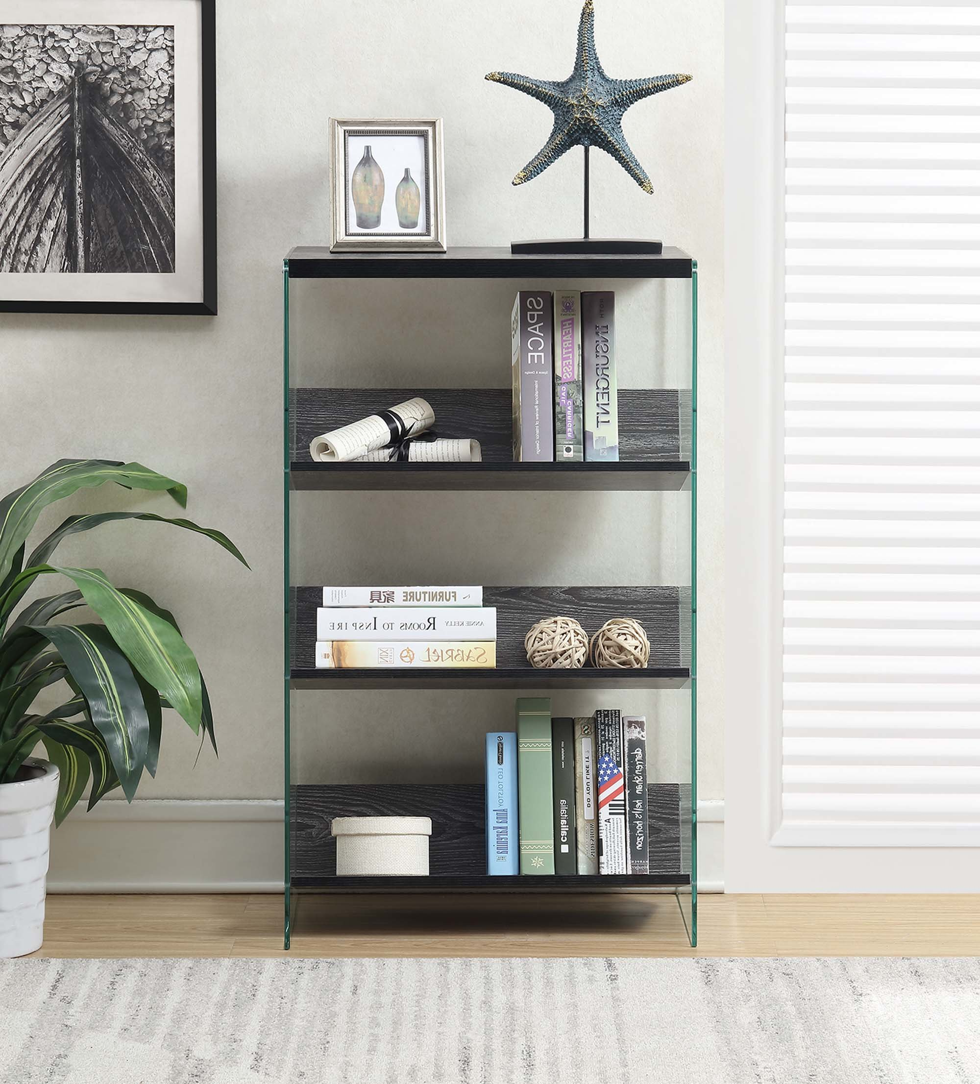 Popular 4 Tier Standard Bookcase Throughout Daria Standard Bookcases (View 17 of 20)