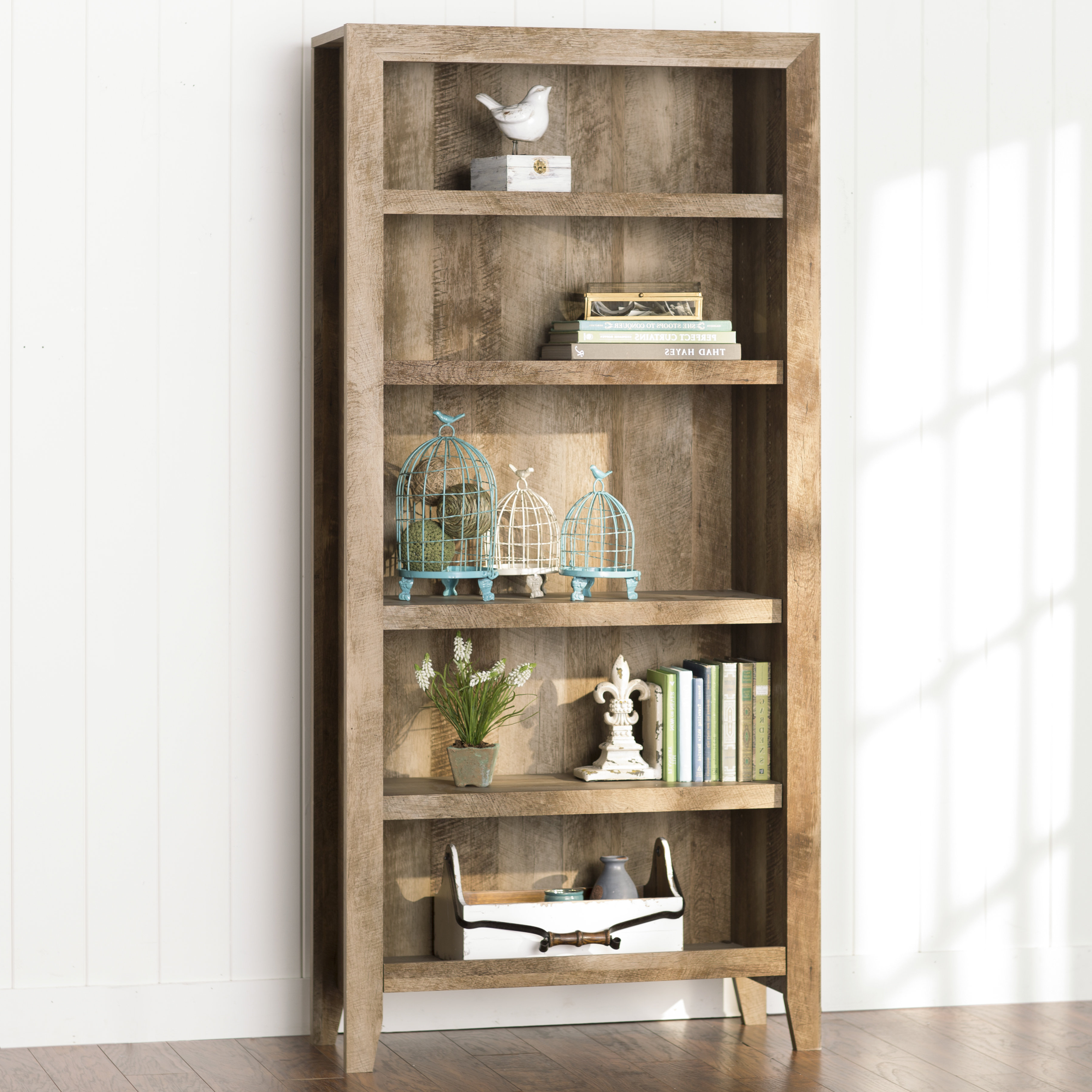 Popular Beckwith Etagere Bookcases With Farmhouse & Rustic 5 Shelf Bookcases & Bookshelves (View 17 of 20)