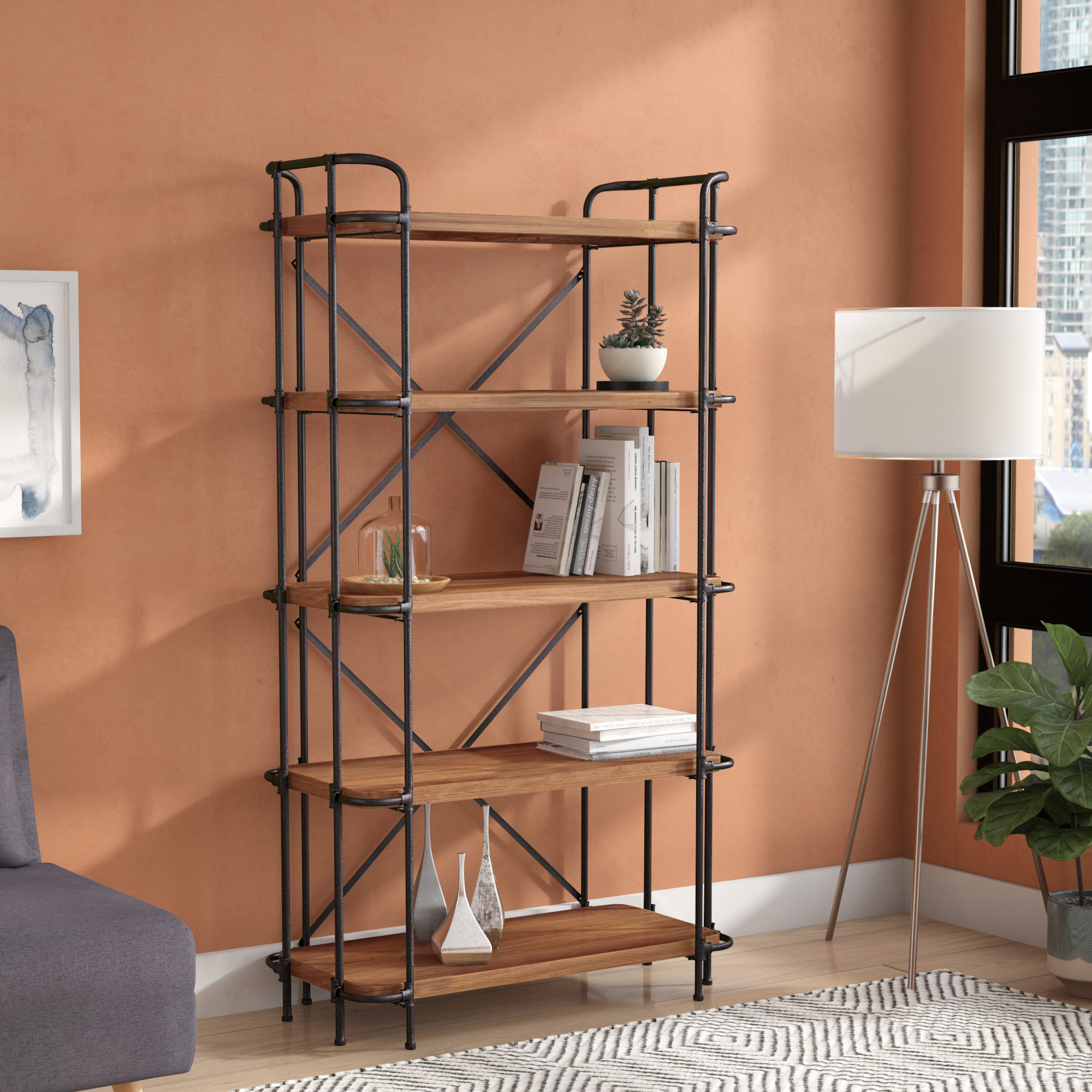 Popular Bookcase With Baskets You'll Love In (View 13 of 20)