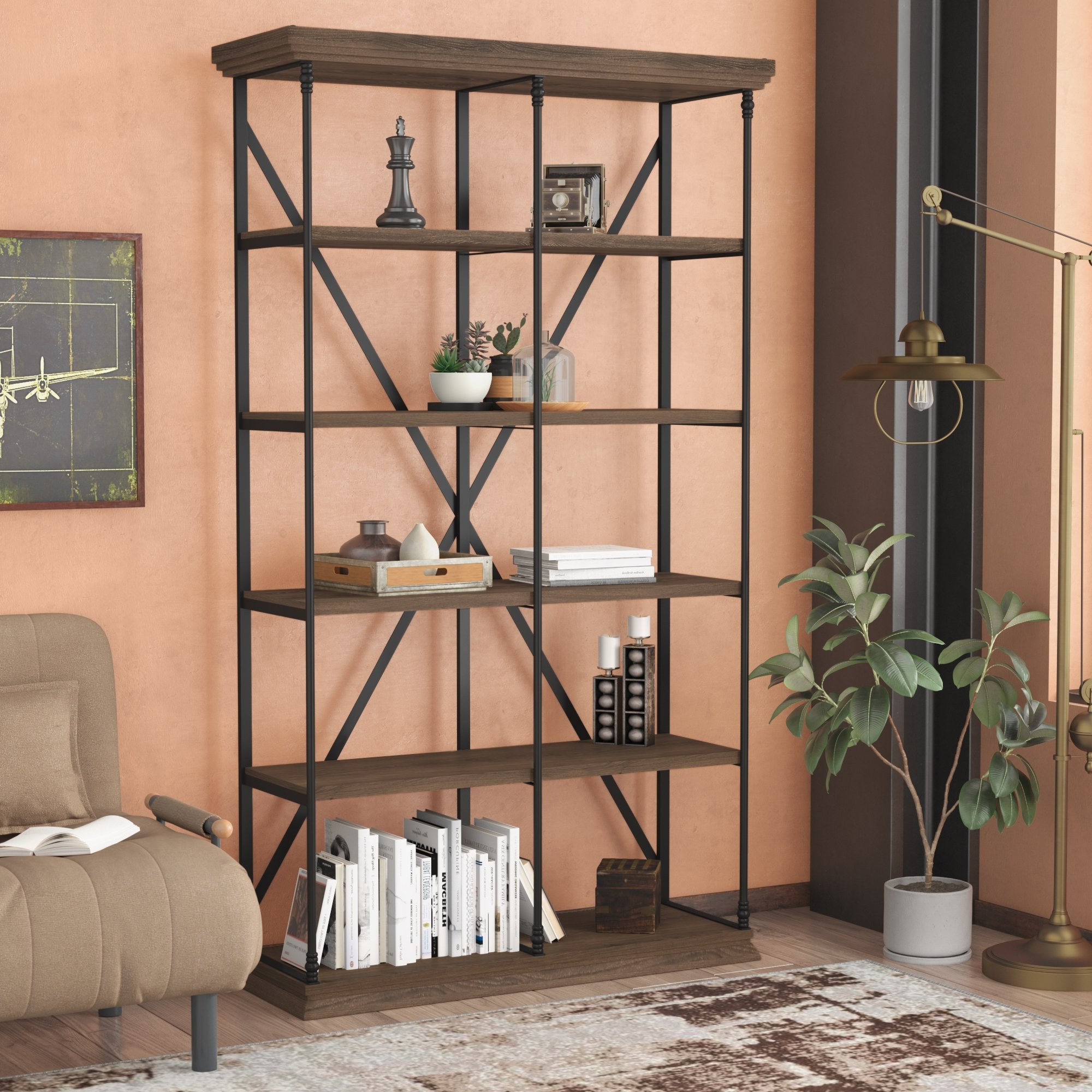 Popular Borgata Etagere Bookcase Inside Bowman Etagere Bookcases (View 12 of 20)