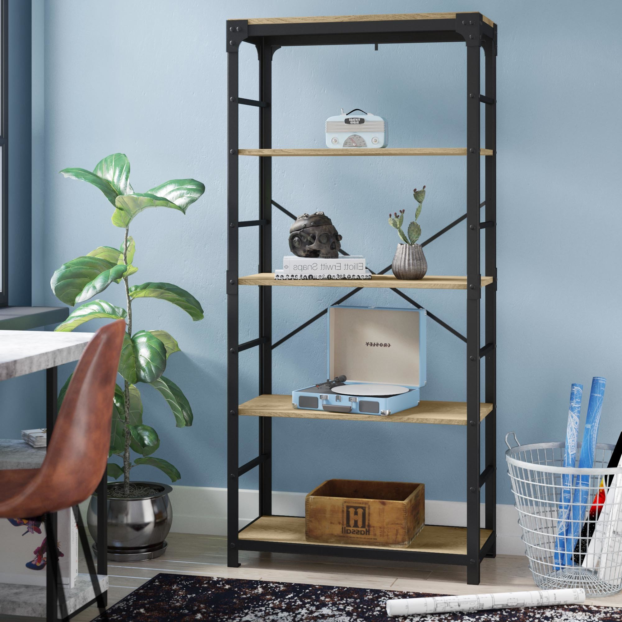 Popular Cecelia Etagere Bookcase Pertaining To Caldwell Etagere Bookcases (View 19 of 20)