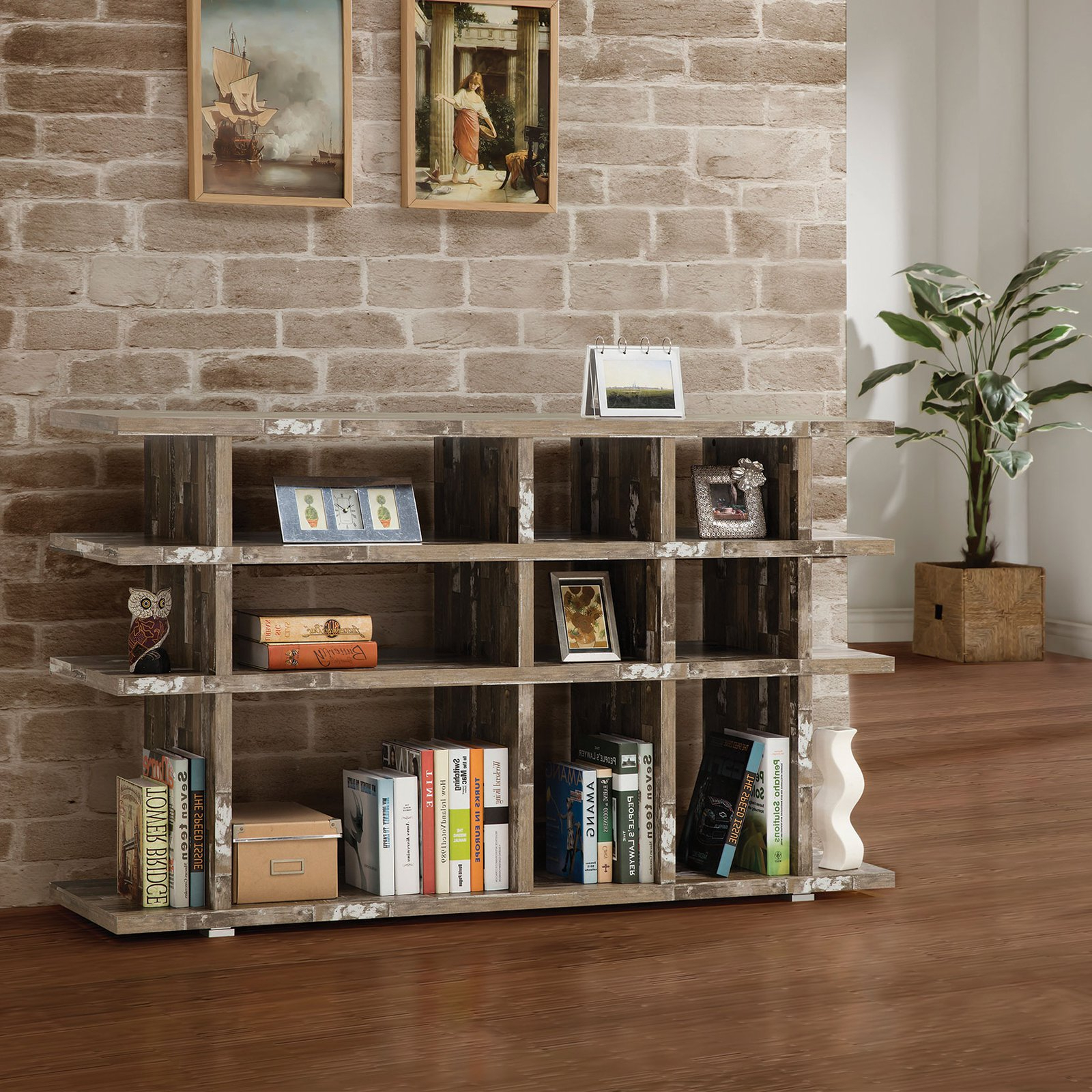 Popular Coaster Furniture Salvaged Cabin Modular Bookcase In 2019 Within Cullison Standard Bookcases (View 12 of 20)
