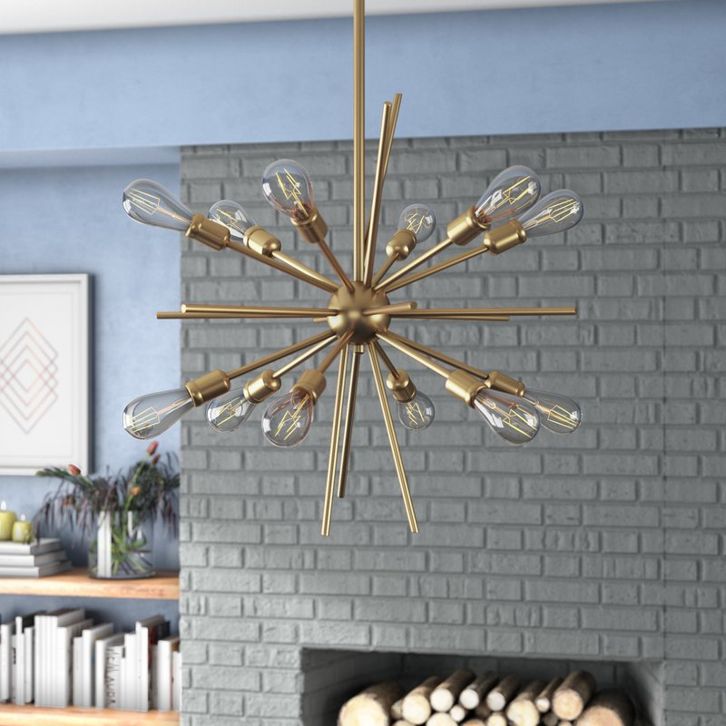 Popular Corona 12 Light Sputnik Chandeliers For Corona 12 Light Sputnik Chandelier (Gallery 3 of 25)