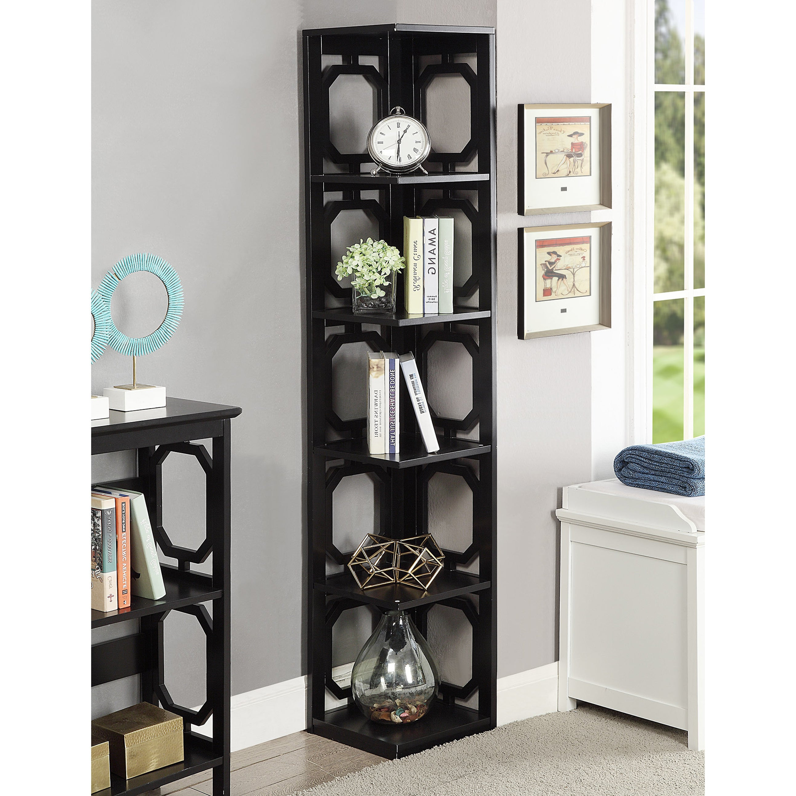 Popular Courtdale Corner Bookcases Intended For Buy Corner Bookshelves & Bookcases Online At Overstock (View 9 of 20)