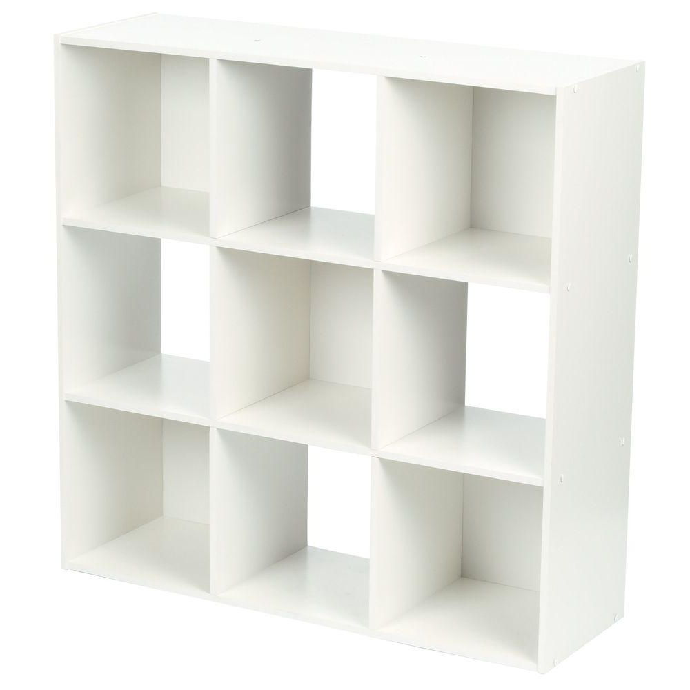 Popular Cubicals Cube Bookcases With Regard To Martha Stewart Living 36 In. X 36 In. White Stackable 9 Cube Organizer (Gallery 13 of 20)