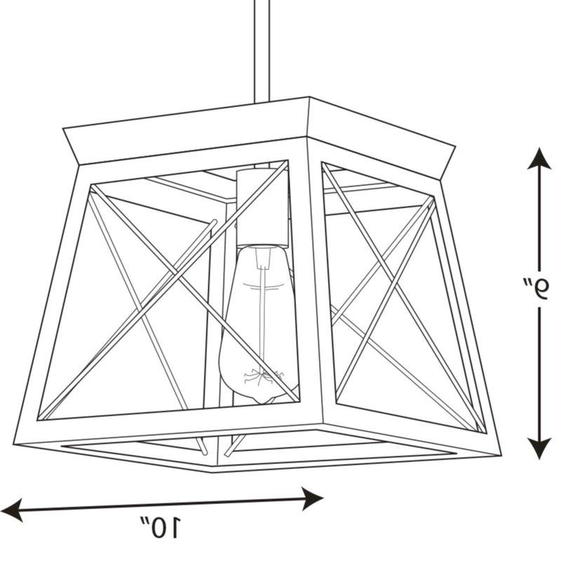 Popular Delon 1 Light Lantern Geometric Pendant Within Delon 1 Light Lantern Geometric Pendants (Gallery 11 of 25)