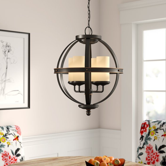 Popular Donna 4 Light Globe Chandelier Intended For Donna 6 Light Globe Chandeliers (View 24 of 25)