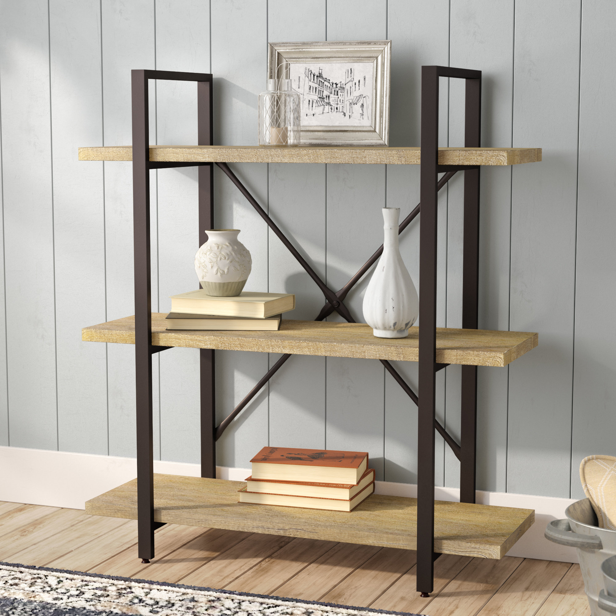 Popular Earline Etagere Bookcase Regarding Parker Modern Etagere Bookcases (View 13 of 20)