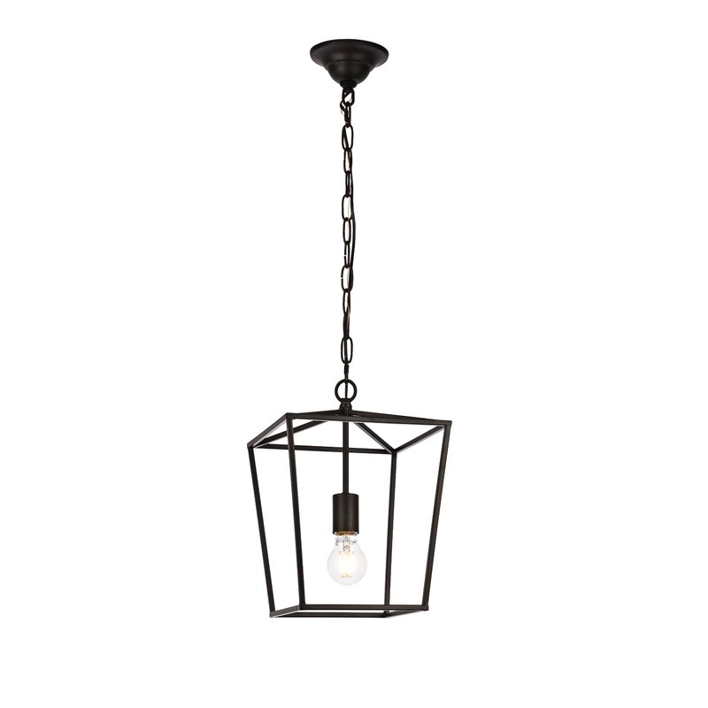 Popular Finnick 3 Light Lantern Pendants For Finnick 1 Light Geometric Pendant (View 6 of 25)