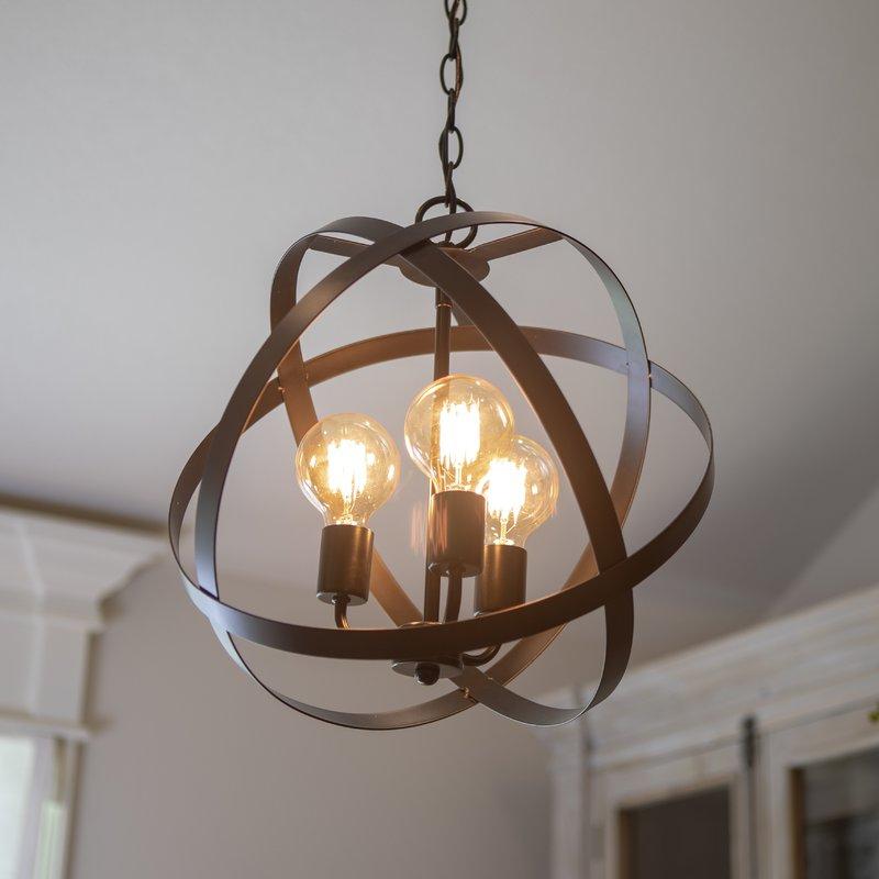 Popular Fordwich 3 Light Globe Chandelier Throughout Shipststour 3 Light Globe Chandeliers (Gallery 6 of 25)