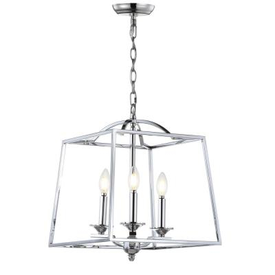 Popular Gabriella 3 Light Lantern Chandeliers With Regard To Lantern – Chandeliers – Lighting – The Home Depot (View 20 of 25)