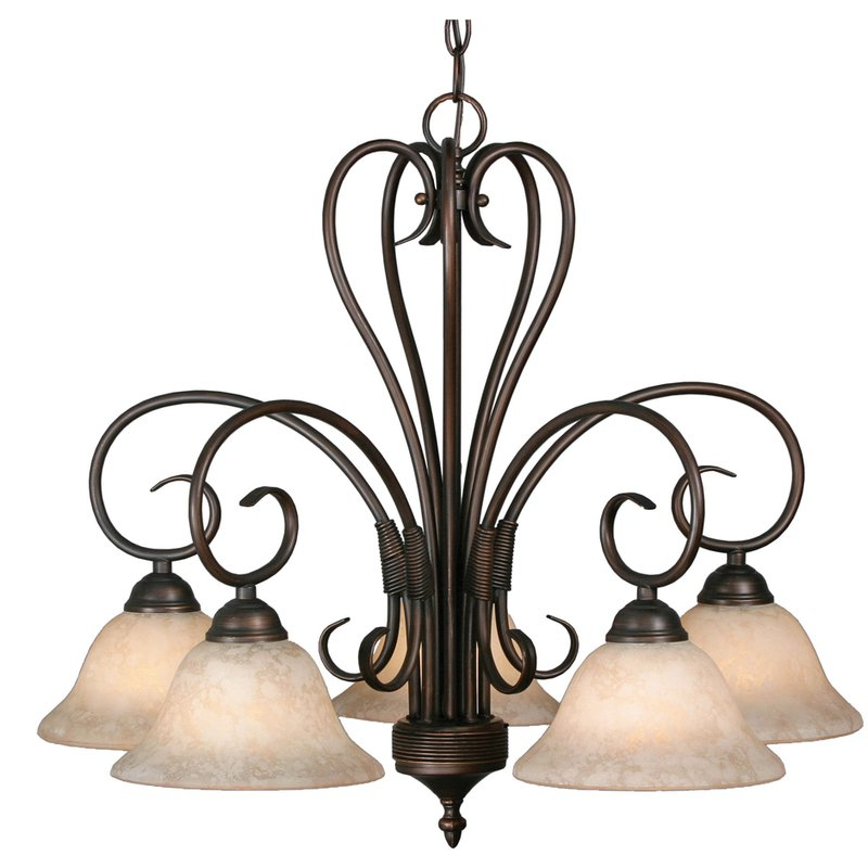 Popular Gaines 5 Light Shaded Chandeliers Pertaining To Gaines 5 Light Shaded Chandelier (View 15 of 25)