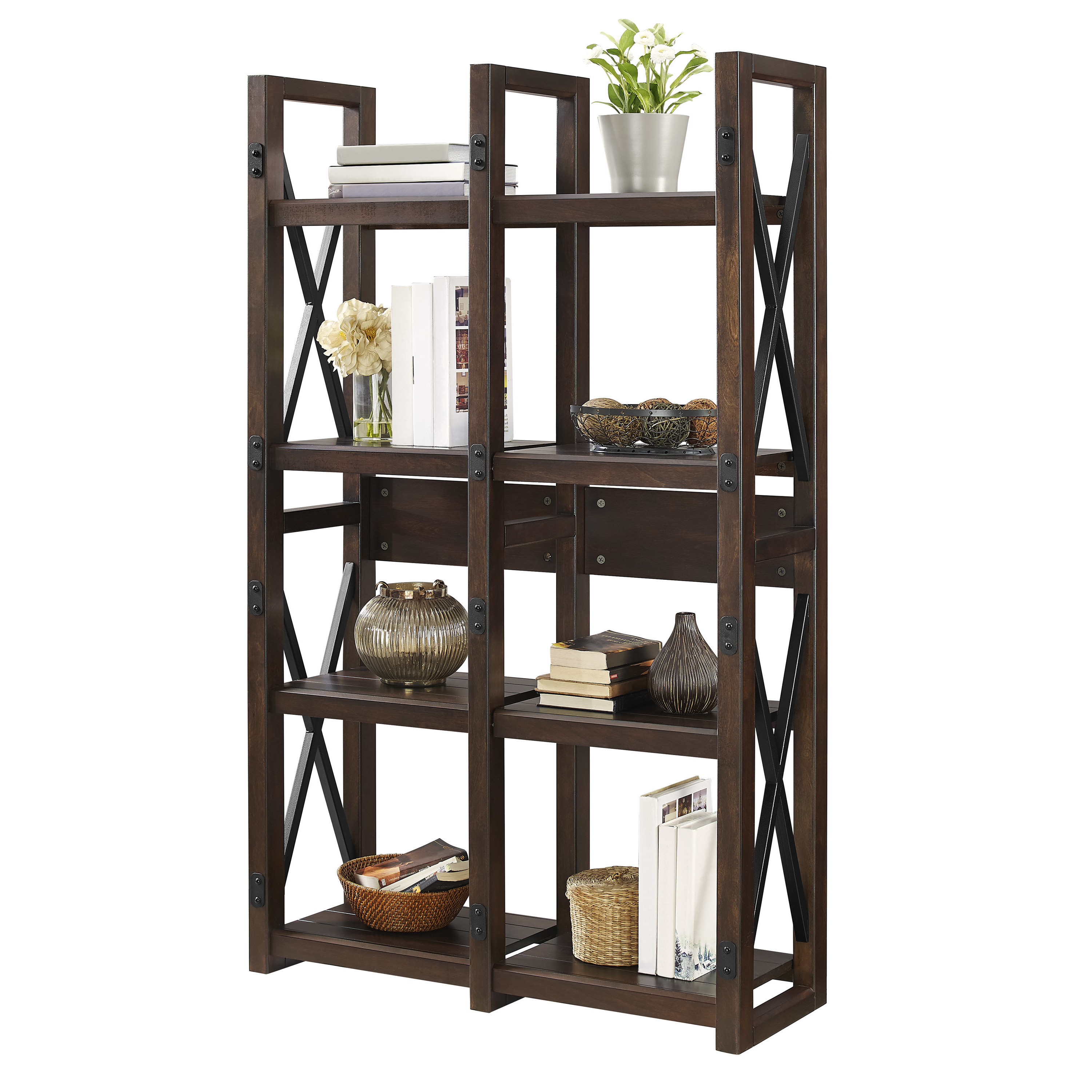 Popular Gladstone Etagere Bookcase For Parthenia Etagere Bookcases (View 16 of 20)