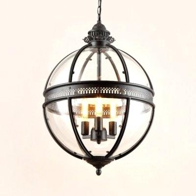 Popular Industrial Globe Chandelier – Cryptopops.co Pertaining To La Sarre 3 Light Globe Chandeliers (Gallery 21 of 25)