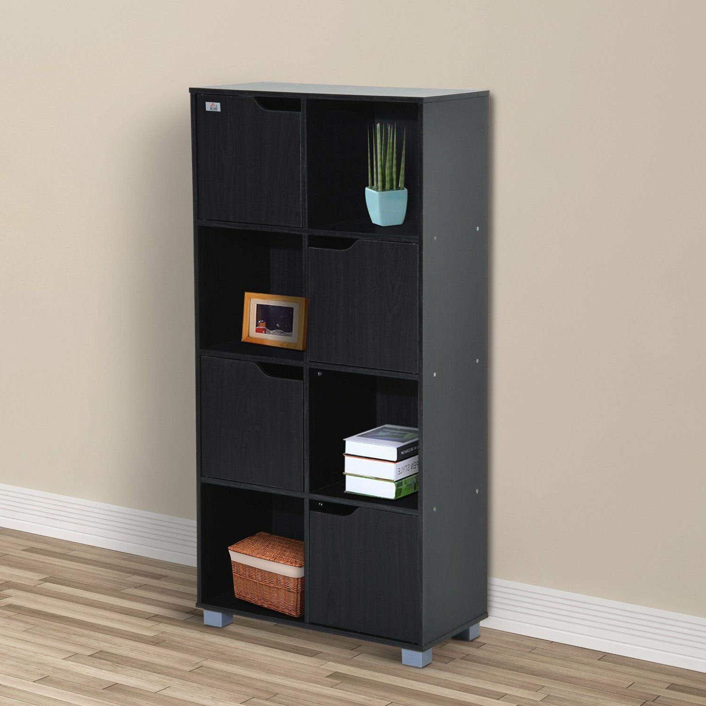 Popular Karlie Cube Unit Bookcases Throughout Mcauley 8 Storage Shelf Organizer Cube Unit Bookcase (Gallery 7 of 20)