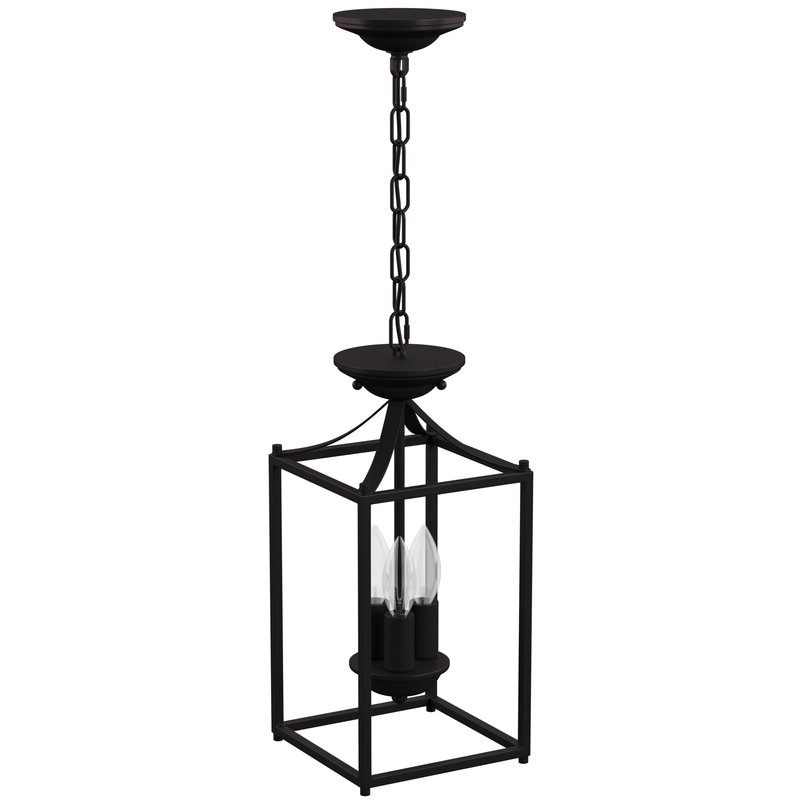 Popular Leiters 3 Light Lantern Geometric Pendants Throughout Barryton 3 Light Lantern Square Pendant (View 20 of 25)