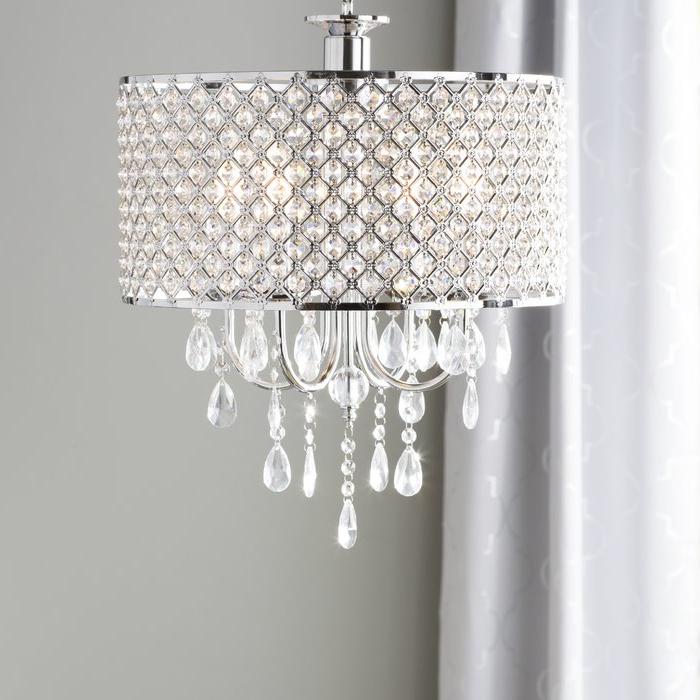 Popular Mckamey 4 Light Crystal Chandeliers Intended For Aurore 4 Light Crystal Chandelier (View 14 of 25)
