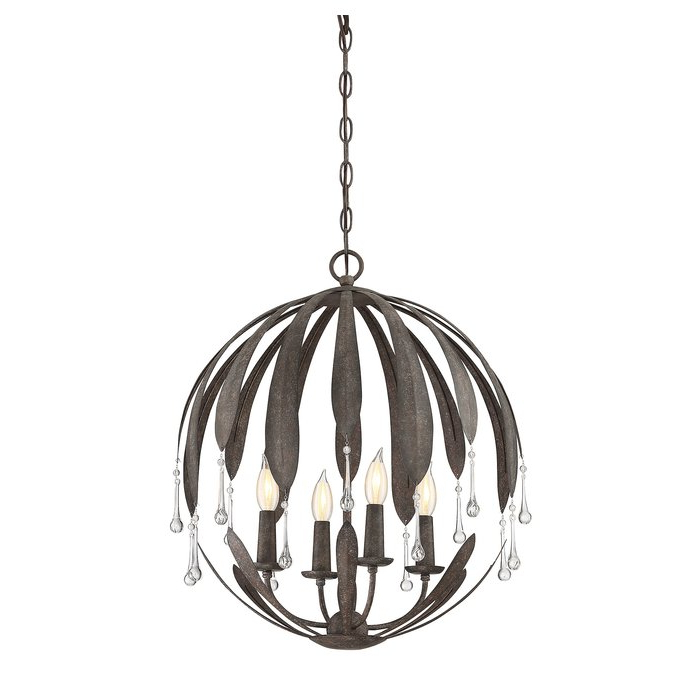 Popular Morganti 4 Light Chandeliers For Wyant 4 Light Chandelier (View 21 of 25)