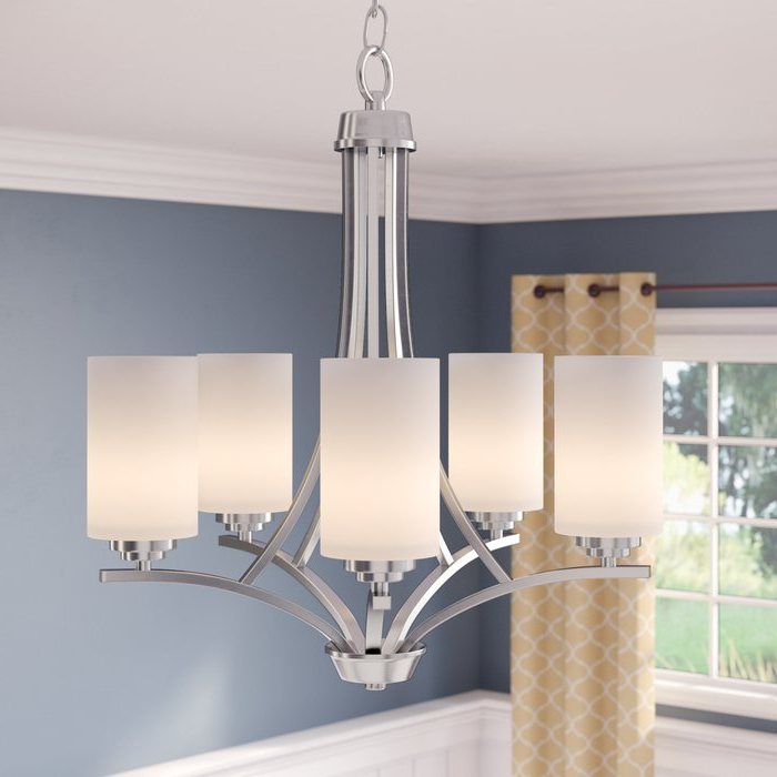 Popular Newent 5 Light Shaded Chandeliers In Bainsby 5 Light Shaded Chandelier (View 19 of 25)