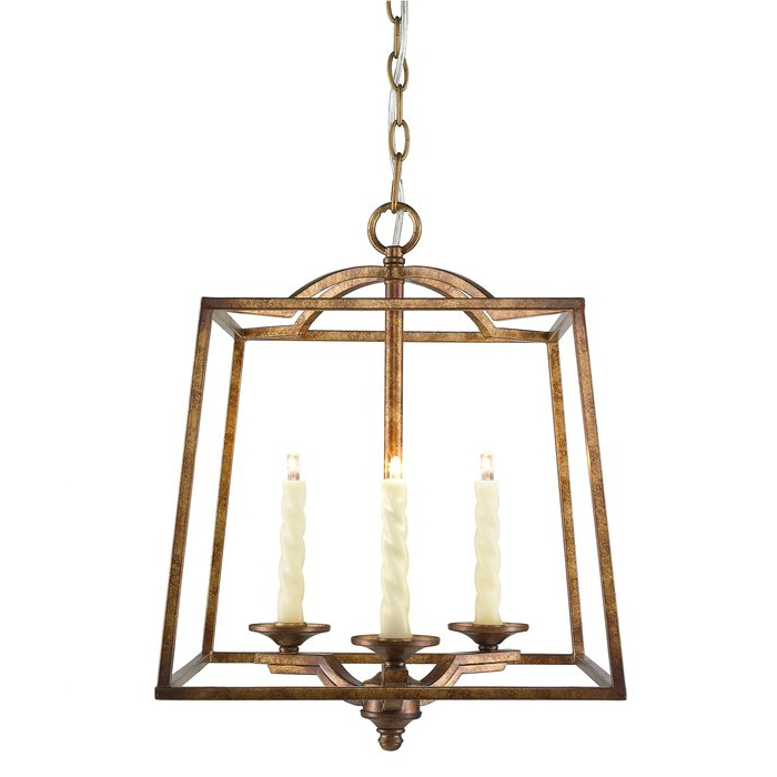 Popular Senter 3 Light Steel Lantern Pendant Inside Leiters 3 Light Lantern Geometric Pendants (View 11 of 25)