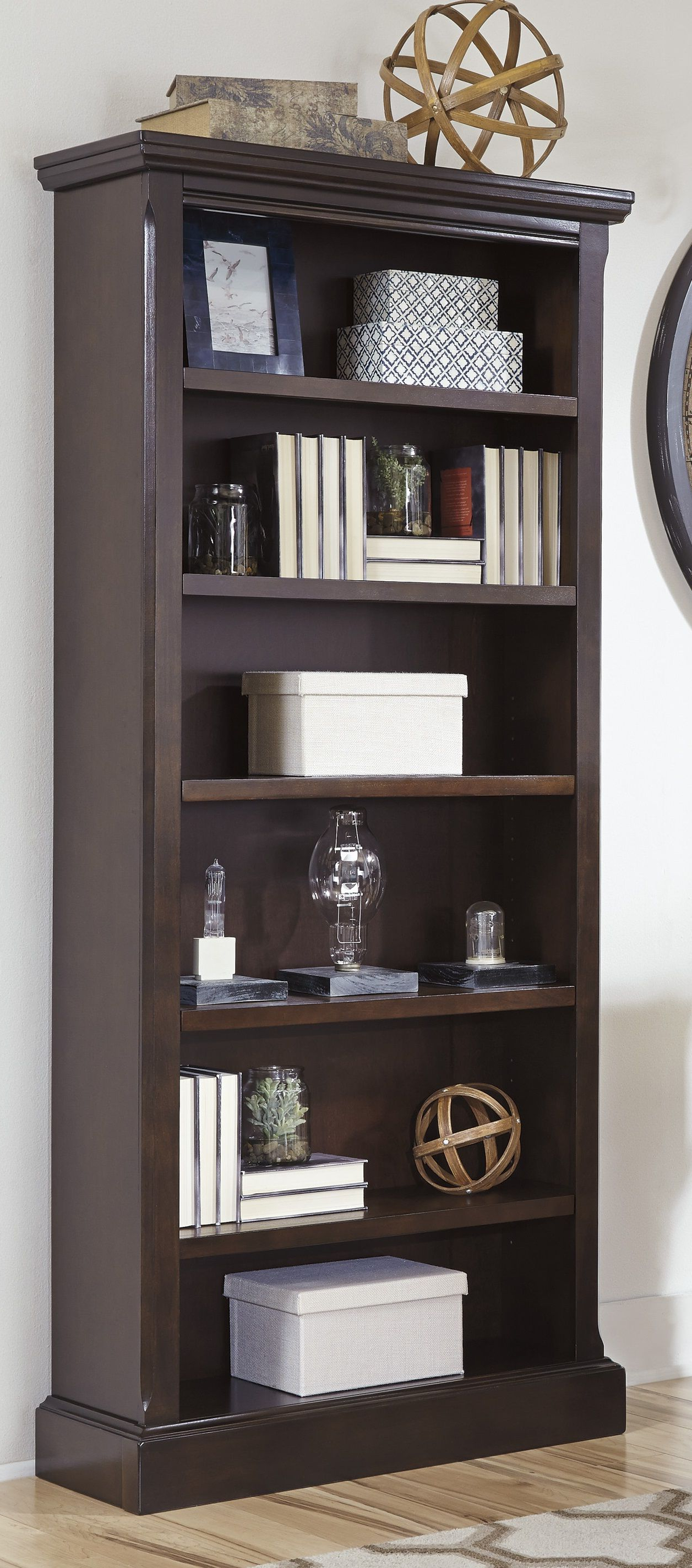 Porter – Large Bookcase – H697 17 Bookcases From Ashley At For 2020 Crowley Standard Bookcases (Gallery 10 of 20)