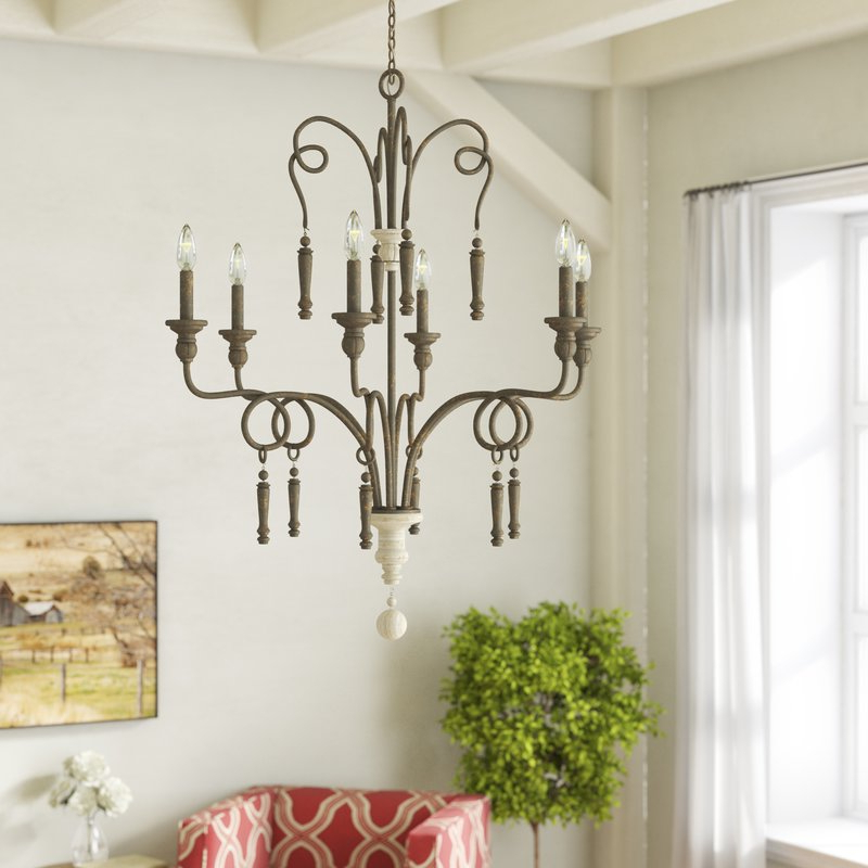 Preferred Bouchette Traditional 6 Light Candle Style Chandeliers Within Bouchette 6 Light Candle Style Chandelier (View 23 of 25)