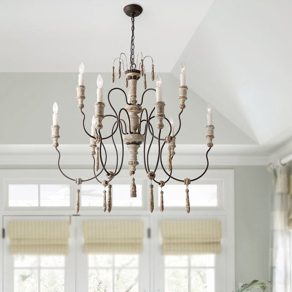 Preferred Camilla 9 Light Candle Style Chandeliers Regarding Talbert 8 Light Candle Style Chandelier (View 21 of 25)