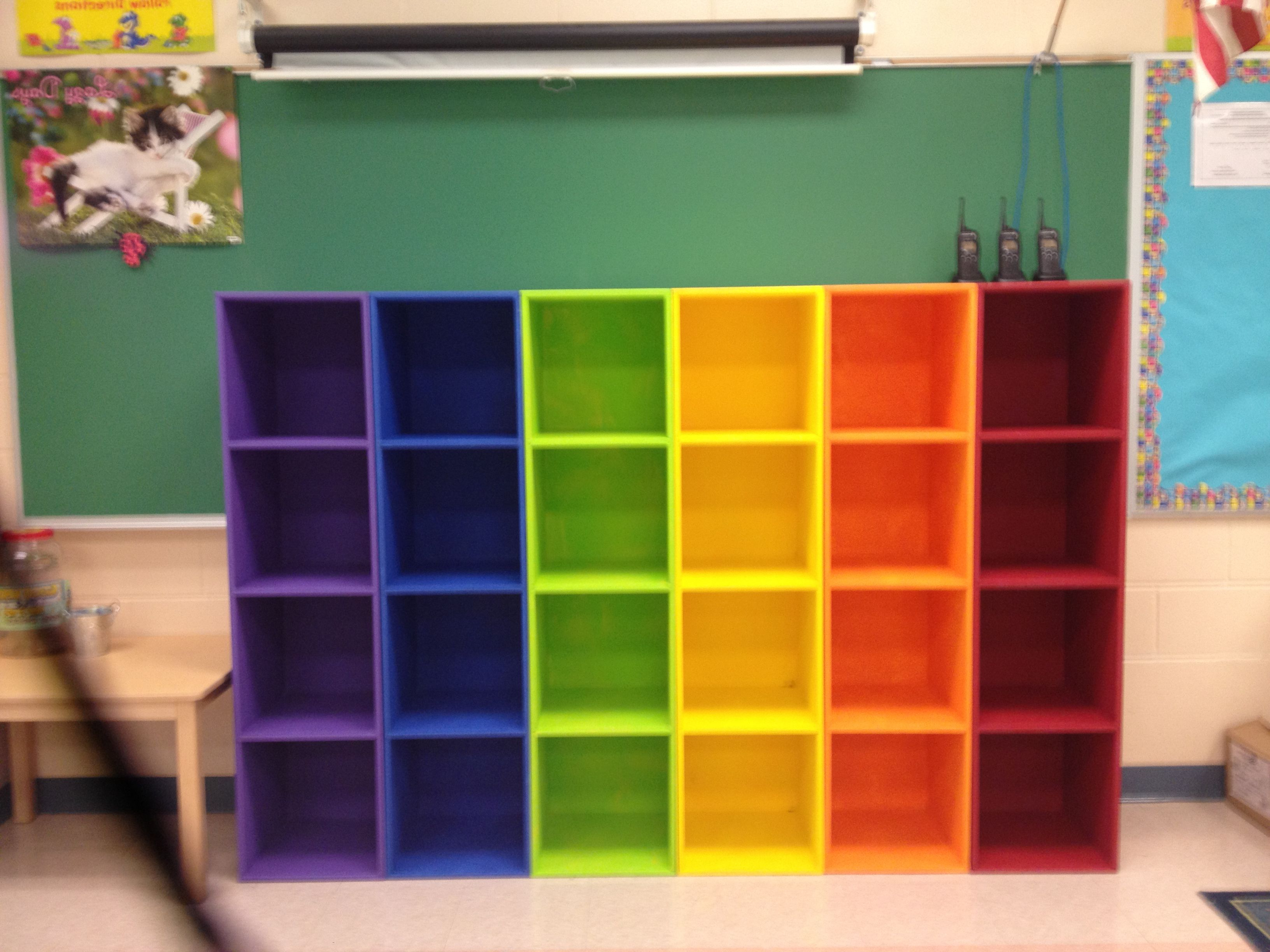 Preferred Classroom Cubby Standard Bookcases Pertaining To Diy Rainbow Cubbies – This Looks Awesome In My Classroom! So (View 17 of 20)