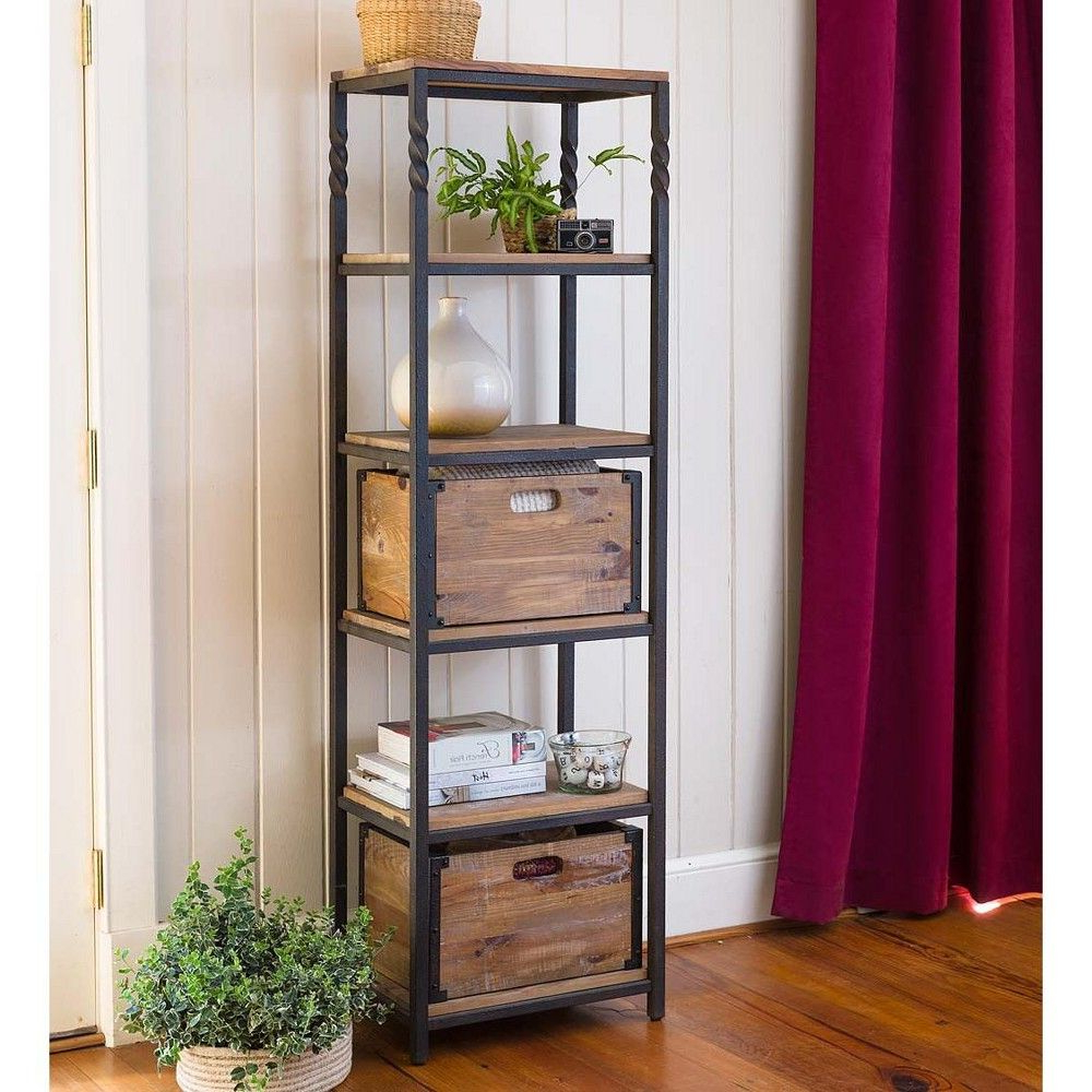Preferred Deep Creek Etagere Storage Stand With Shelves – Plow Pertaining To Woodcrest Etagere Bookcases (View 12 of 20)