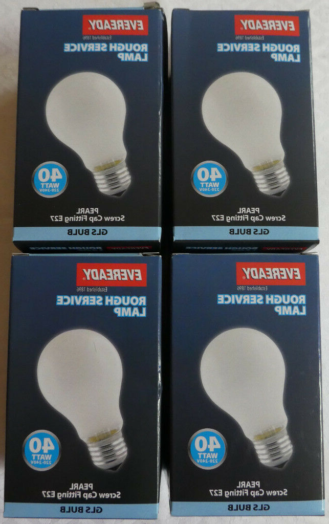 Preferred Eveready Incandescent 40w Pearl Frosted Es Light Bulbs Lamps X 4! Not Halogen! £15! Not Made Anymore (View 21 of 25)