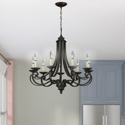 Preferred Gaines 9 Light Candle Style Chandeliers In Gaines 9 Light Candle Style Chandelier (Gallery 18 of 25)