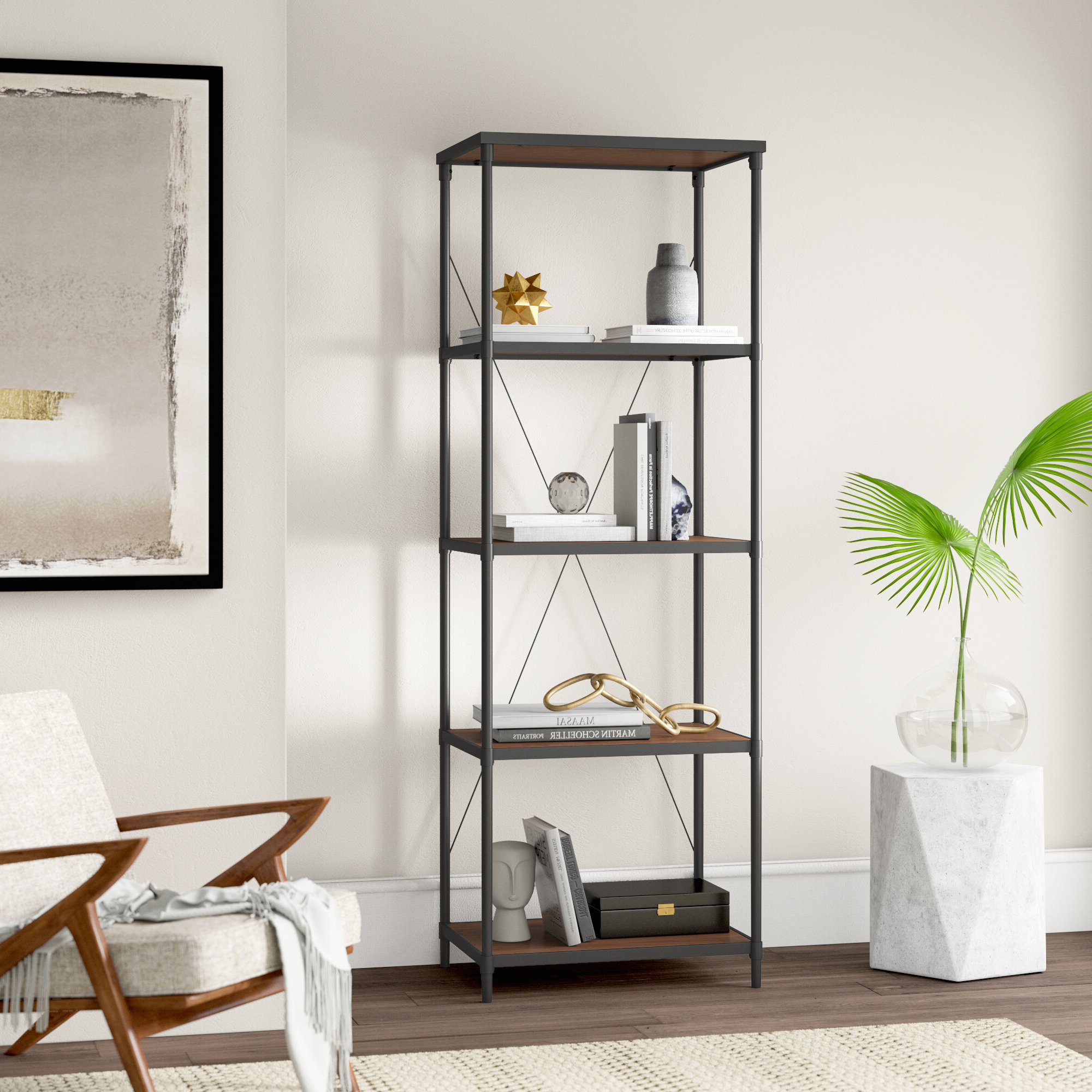 Preferred Hera Etagere Bookcase Within Swindell Etagere Bookcases (View 10 of 20)