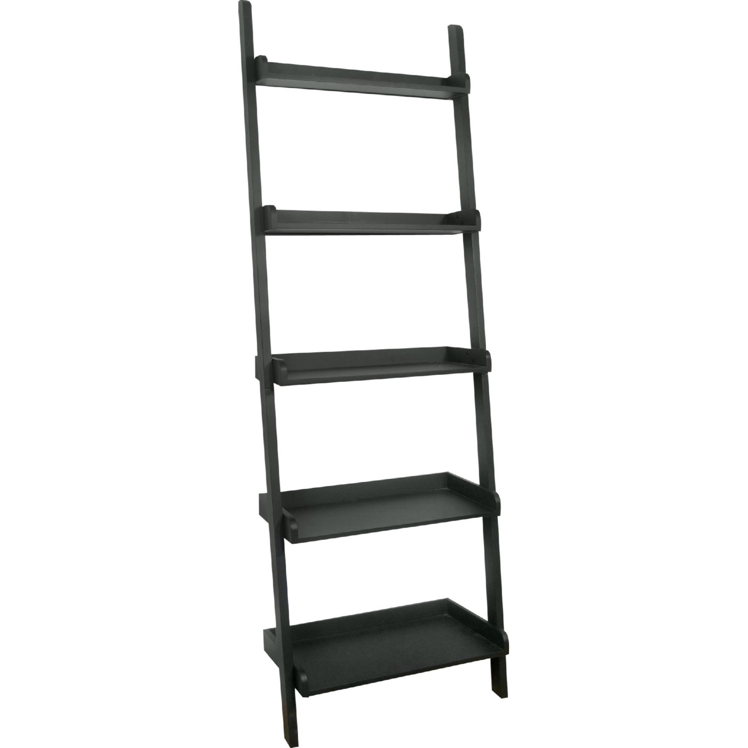 Preferred International Concepts Lean Shelf Unit 5 Shelves Black Throughout Nailsworth Ladder Bookcases (View 18 of 20)