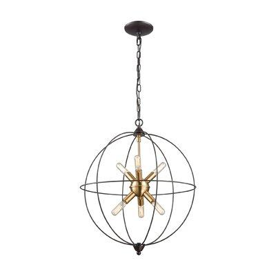 Preferred Joon 6 Light Globe Chandeliers With Mercury Row Cogdill 6 Light Globe Chandelier (Gallery 13 of 25)