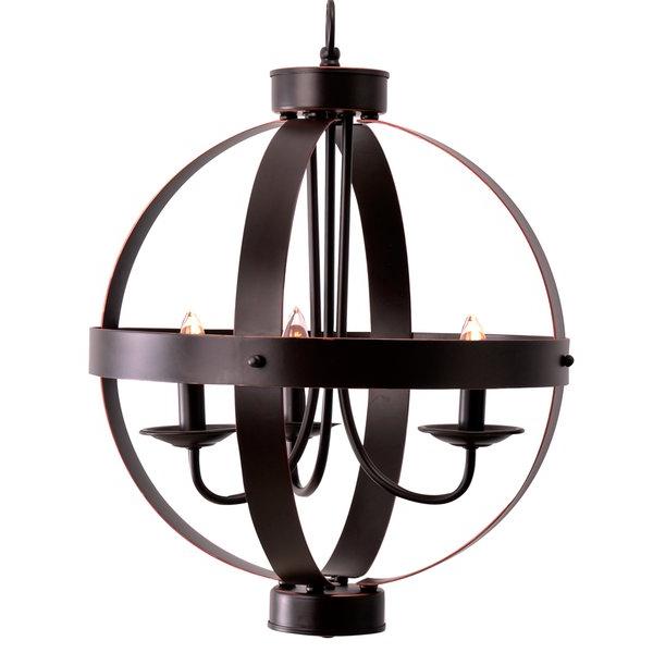 Preferred La Sarre 3 Light Globe Chandeliers With La Sarre 3 Light Globe Chandelier (View 23 of 25)
