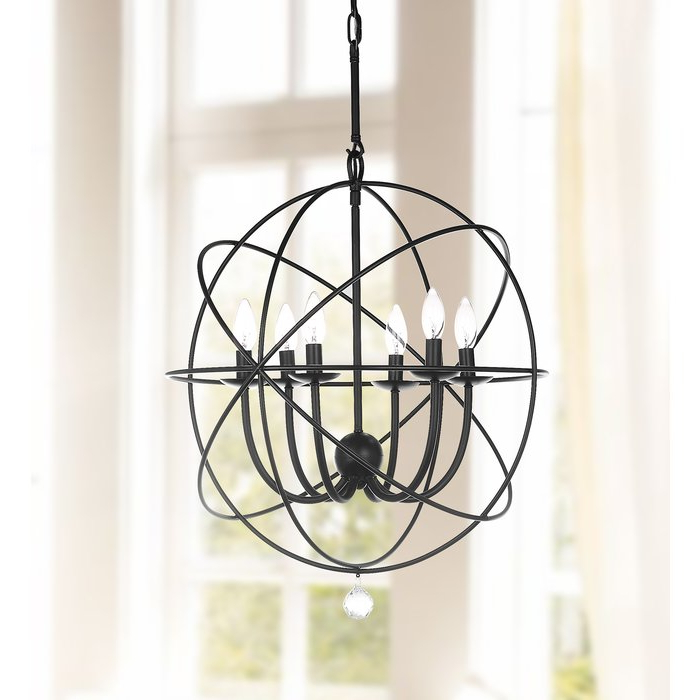 Preferred Lennert 6 Light Chandelier With Regard To Eastbourne 6 Light Unique / Statement Chandeliers (Gallery 11 of 25)